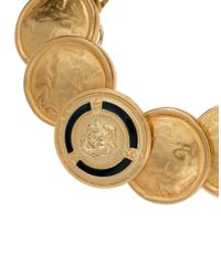 Sam Ubhi - Metallic Vintage Gold Button Chunky Bracelet - Lyst