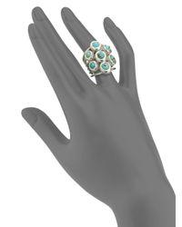 Slane - Multicolor Turquoise Multiband Ring - Lyst