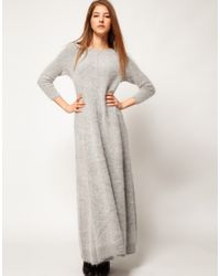 Grey Floor Length Dress