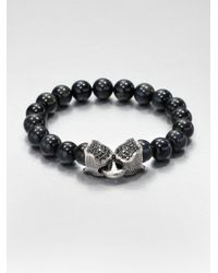 Stephen Webster | Black Tigers Eye Beaded Bracelet for Men | Lyst