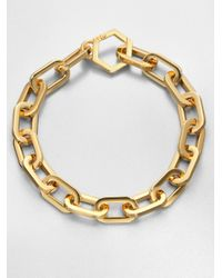 Tory Burch - Metallic Heidi Goldplated Oversized Chain Necklace - Lyst