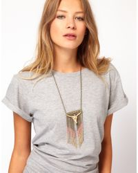 Wildfox - Metallic Bull Chain Necklace - Lyst