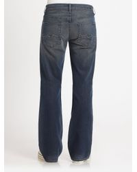 7 For All Mankind | Blue Slate Night Bootcut Jeans for Men | Lyst