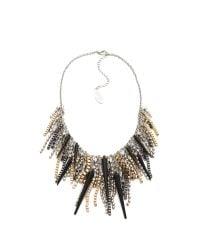 Adia Kibur | Metallic Spike Crystal Necklace | Lyst