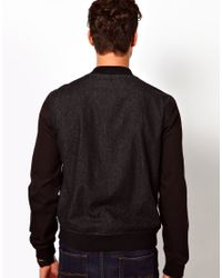 ASOS | Black Denim Bomber Jacket for Men | Lyst