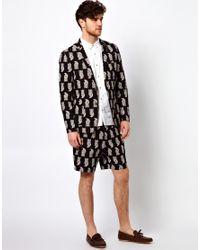 ASOS | Black Slim Fit Blazer in Paisley for Men | Lyst