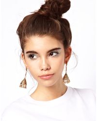 ASOS | Metallic Drop Bell Earrings | Lyst