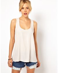 ASOS | Natural Sheer Panel Textured Shell Top | Lyst