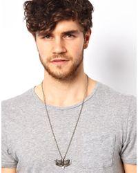 ASOS | Metallic Eagle Pendant Necklace for Men | Lyst