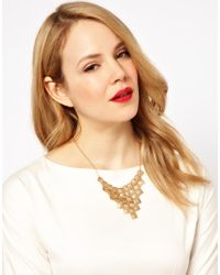 French Connection - Metallic Cascade Collar Necklace - Lyst