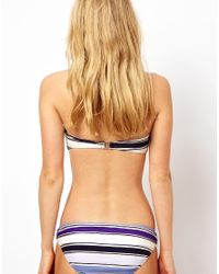 French Connection - Blue Stripey Sandy Ring Bikini Bottom - Lyst
