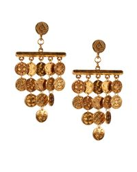 House of Harlow 1960 | Metallic 14ct Gold Plated Tiered Coin Earrings | Lyst