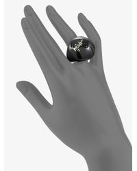 Ippolita - Sterling Silver Resin Signature Dome Ring Black - Lyst