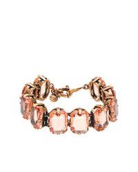 J.Crew - Pink Color Stone Bracelet - Lyst