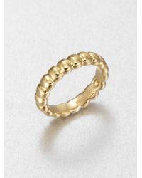John Hardy | Metallic 18k Yellow Gold Ribbed Ring | Lyst