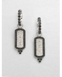 Jude Frances | Metallic Black Diamond Accented White Sapphire and Spinel Earring Charms | Lyst