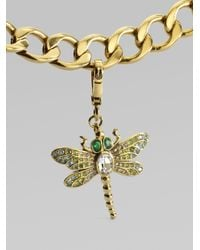 Juicy Couture - Metallic Pavé Dragonfly Charm - Lyst