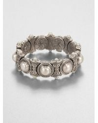 Konstantino - White Cultured Pearl and Sterling Silver Bracelet - Lyst