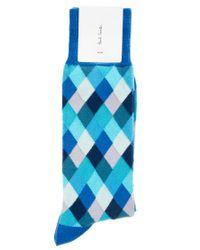 Paul by Paul Smith | Blue Paul Smith Harlequin Socks for Men | Lyst