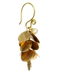Sam Ubhi - Metallic Multi Coin Charm Earrings - Lyst