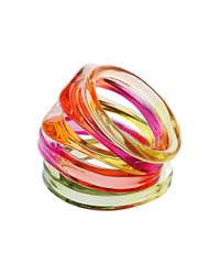 TOPSHOP - Multicolor Chunky Plastic Bangles - Lyst