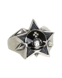 Vivienne Westwood | Black Elvis Ring | Lyst
