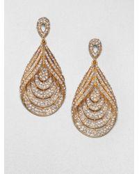 ABS By Allen Schwartz | Metallic Glass Chandelier Teardrop Earrings | Lyst