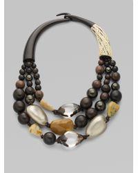 Alexis Bittar - Brown Zanzibar Beaded Necklace - Lyst