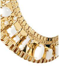 ASOS | Metallic Stone Pharaoh Necklace | Lyst