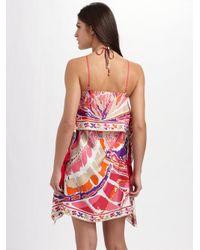 Emilio Pucci - Pink Printed Silk Coverup - Lyst