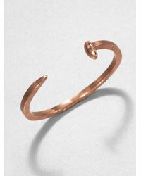 Giles & Brother | Metallic Skinny Railroad Spike Cuff Braceletrose Goldtone | Lyst