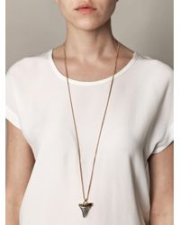 Givenchy | Metallic Double Chain Shark Tooth Necklace | Lyst