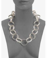 Gurhan - Metallic Hourlgass 24k Yellow Gold & Sterling Silver Link Necklace - Lyst