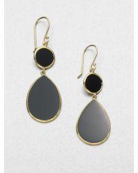 Ippolita - Polished Rock Candy Black Onyx & 18k Yellow Gold Snowman Drop Earrings - Lyst