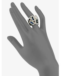 Ippolita - Metallic Quartz Adorned Sterling Silver Five Stone Ring - Lyst