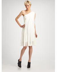 Jason Wu - White One Shoulder Drape Dress - Lyst