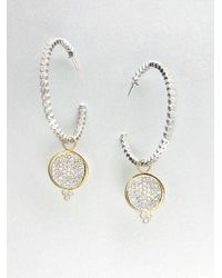 Jude Frances   Metallic White Sapphire Encrusted Earring Charms   Lyst
