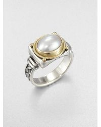Konstantino | Metallic Freshwater Pearl Sterling Silver and 18k Yellow Gold Ring | Lyst