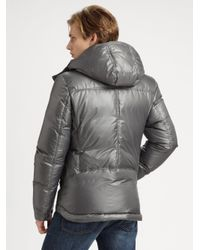 Mackage | Gray Quilted Down Jacket for Men | Lyst