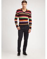 Ralph Lauren Black Label | Multicolor Serape V-neck Sweater for Men | Lyst