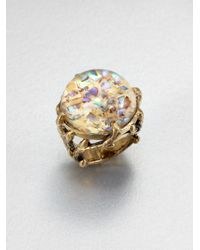 Stephen Dweck | Multicolor Abalone Rock Crystal Dome Ring | Lyst