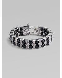 Stephen Webster - Metallic Black Onyx & Sterling Silver Bracelet for Men - Lyst