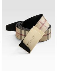 Burberry | Brown Signature Belt for Men | Lyst