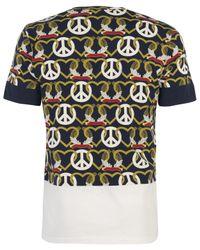Christopher Shannon | White Navy Peace Heart Print T Shirt for Men | Lyst