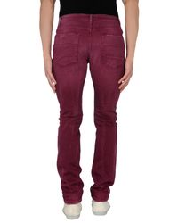 Closed - Red Denim Trousers for Men - Lyst