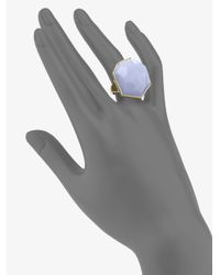 Ippolita - Blue Chalcedony and 18k Yellow Gold Ring - Lyst
