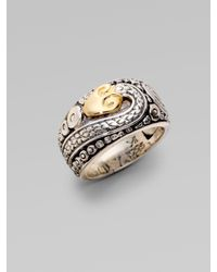 Konstantino | Metallic Sterling Silver 18k Yellow Gold Snake Ring | Lyst