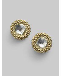 Lagos - Metallic White Topaz 18k Gold Stud Earrings - Lyst