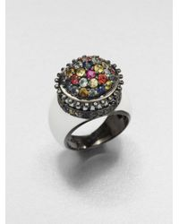 M.c.l  Matthew Campbell Laurenza | Metallic Multicolored Sapphire & Sterling Silver Flower Pot Ring | Lyst