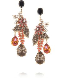 Bijoux Heart | Orange Presence Goldplated Swarovski Crystal Drop Earrings | Lyst
